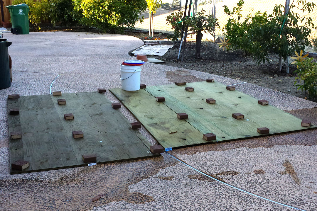 building a floor for the shed