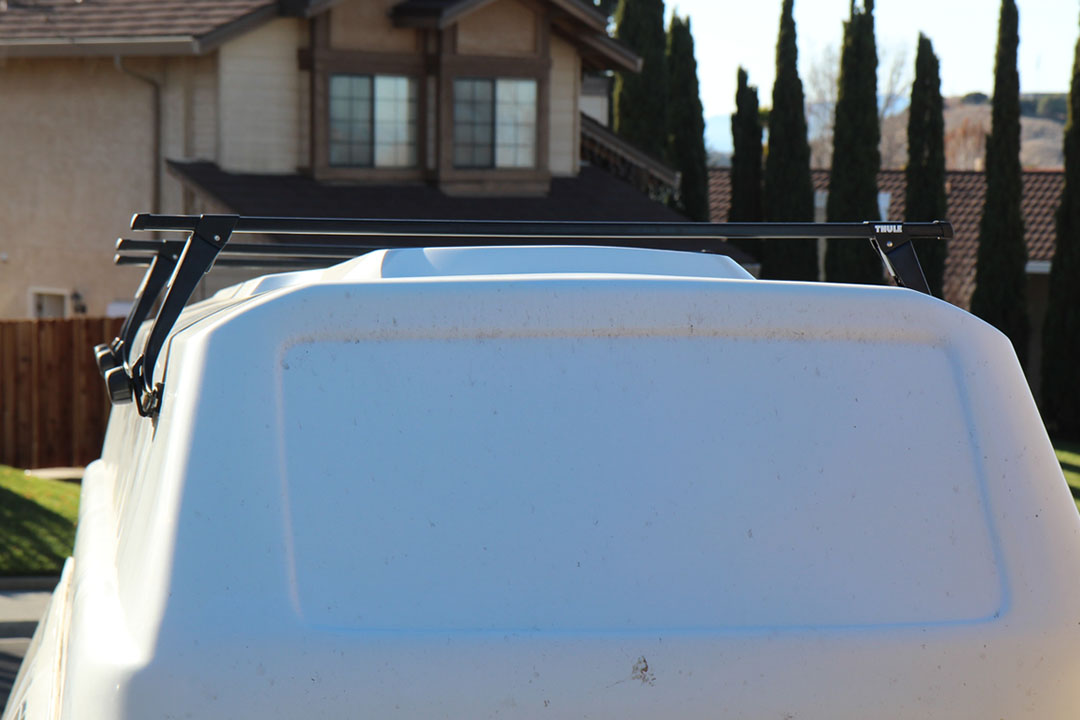 roof rack installed front view