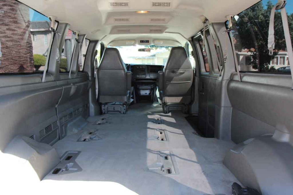 Chevy Express interior, no seats
