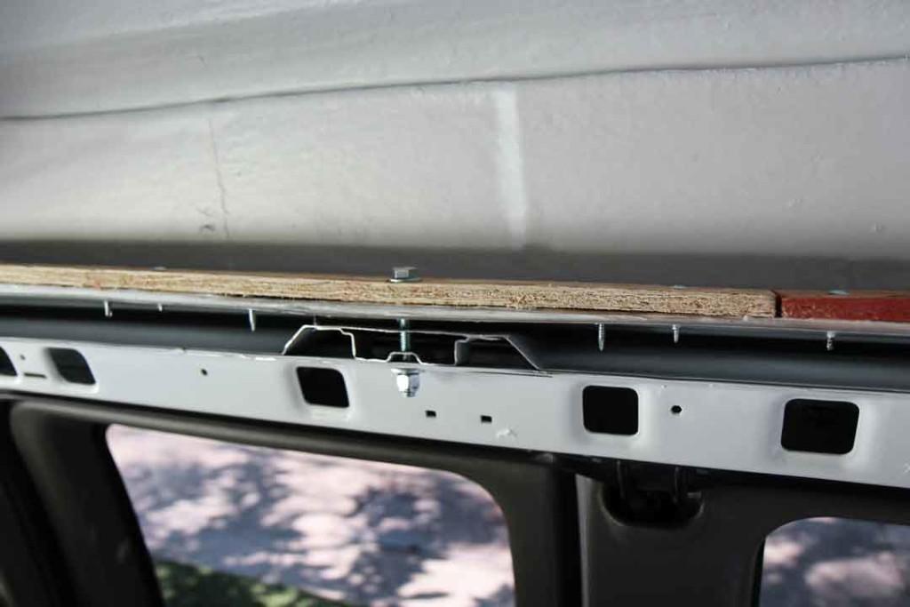 van top install interior side view