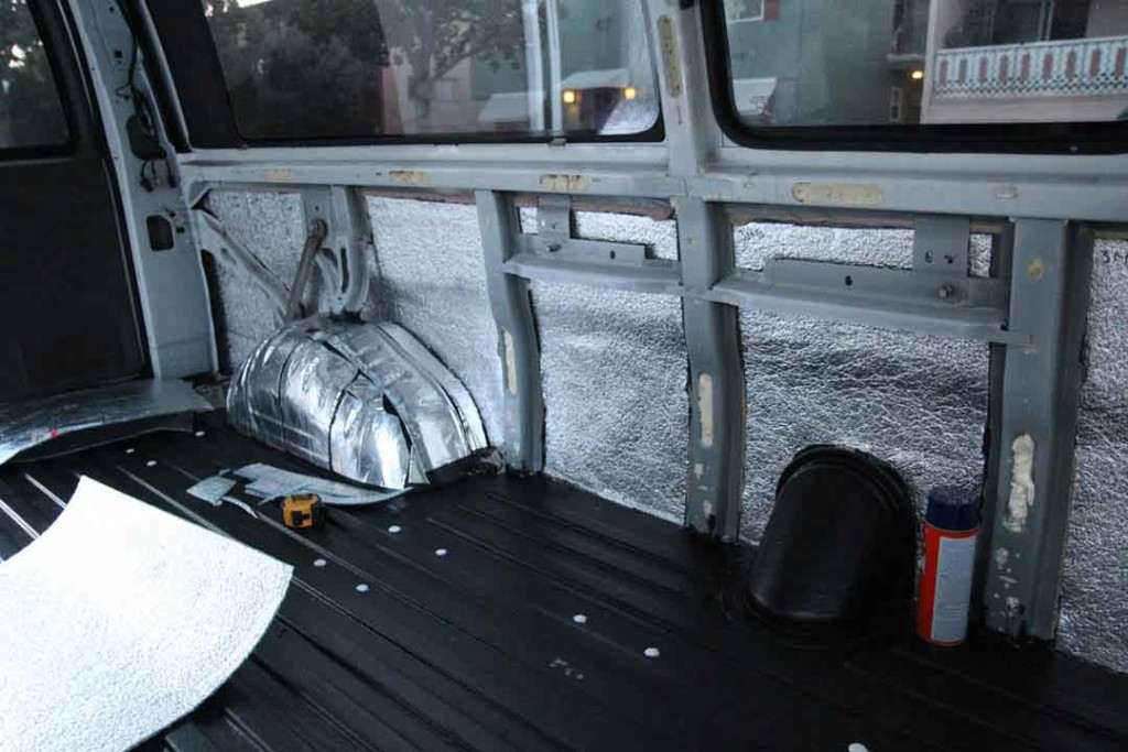 insulation on van walls