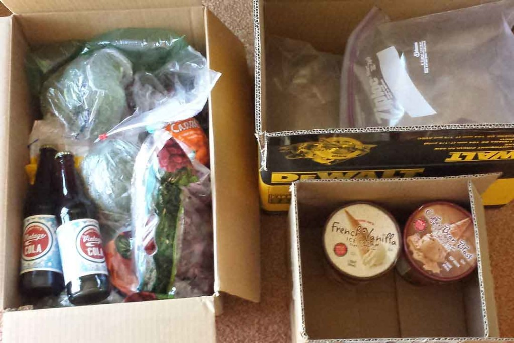 Food in boxes