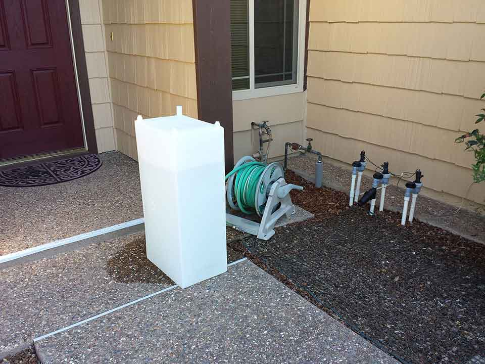 fresh water tank full of water