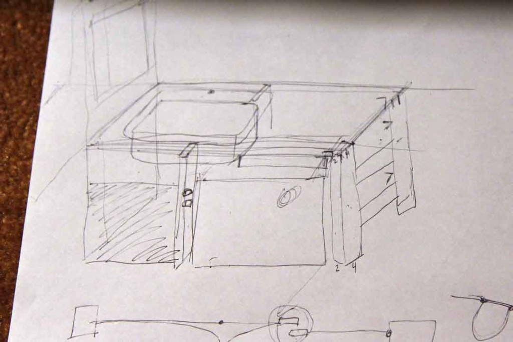 sketch of sink area