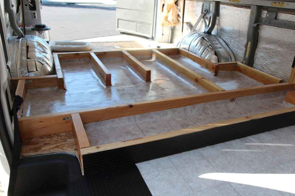 under floor storage framing