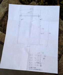 plan for bed in camper van