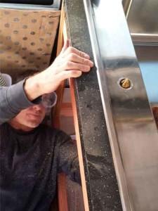 installing the faucet in the van