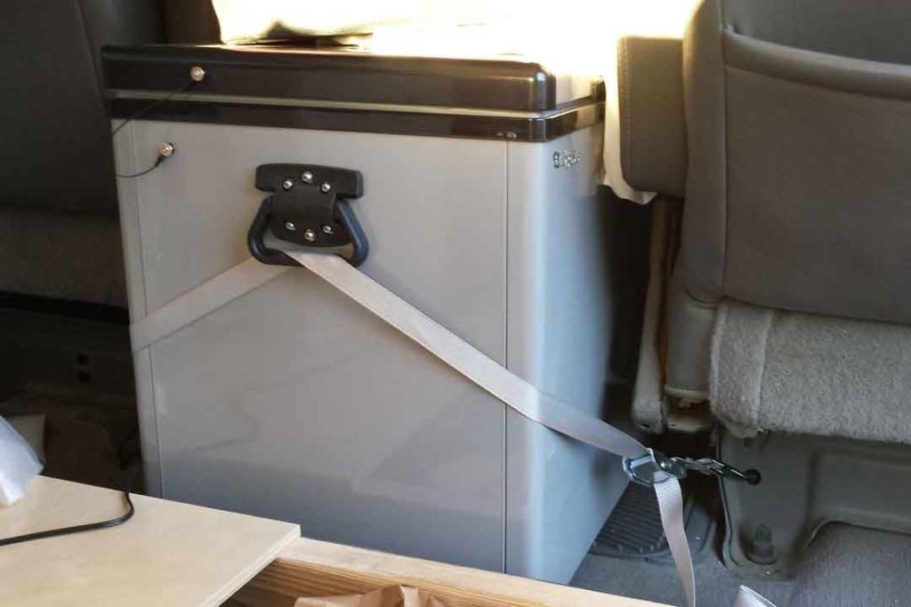 Refrigerator in a van