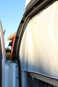 Rear curtains for the van