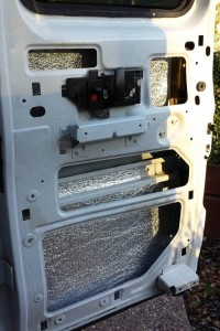 inside of door with insulation