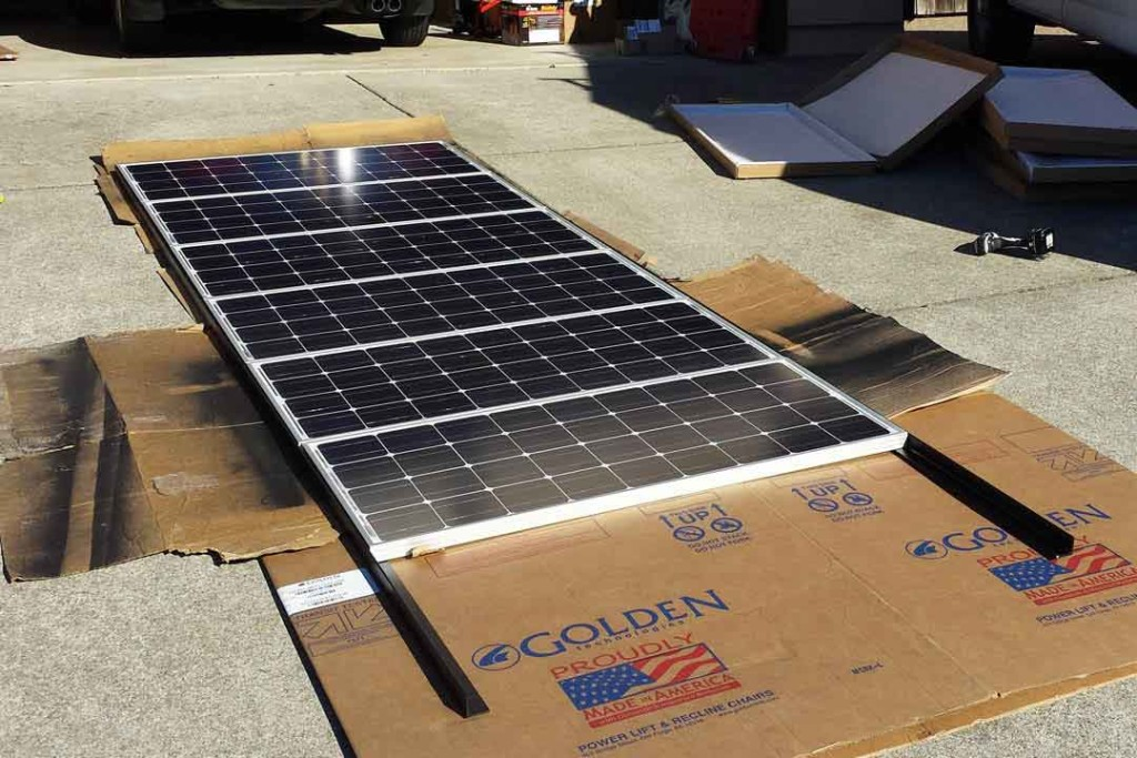 Solar panels ready to be installed