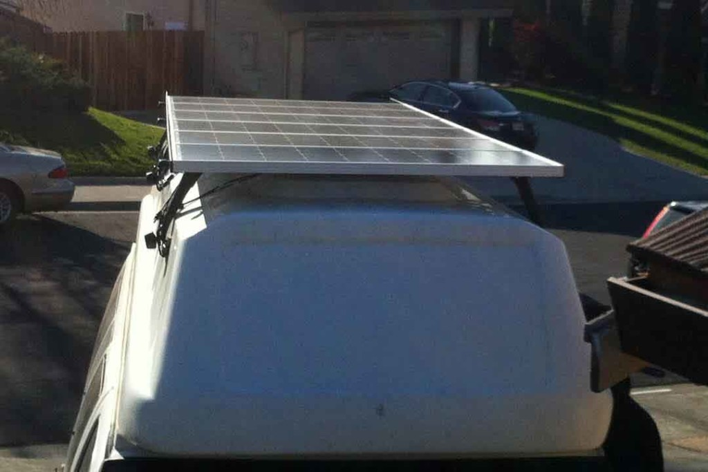 solar panels on van high top