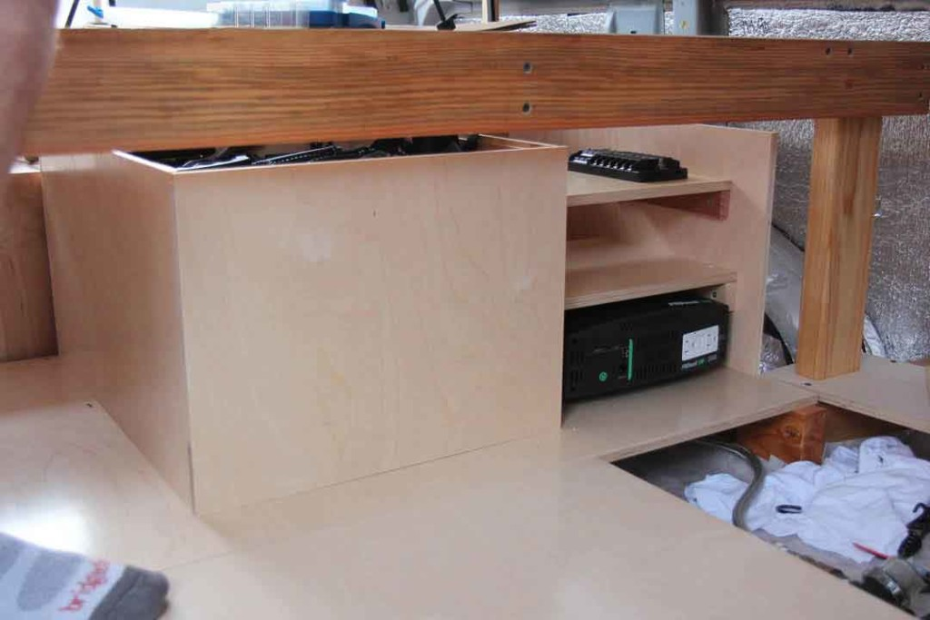 Electrical cabinet for van