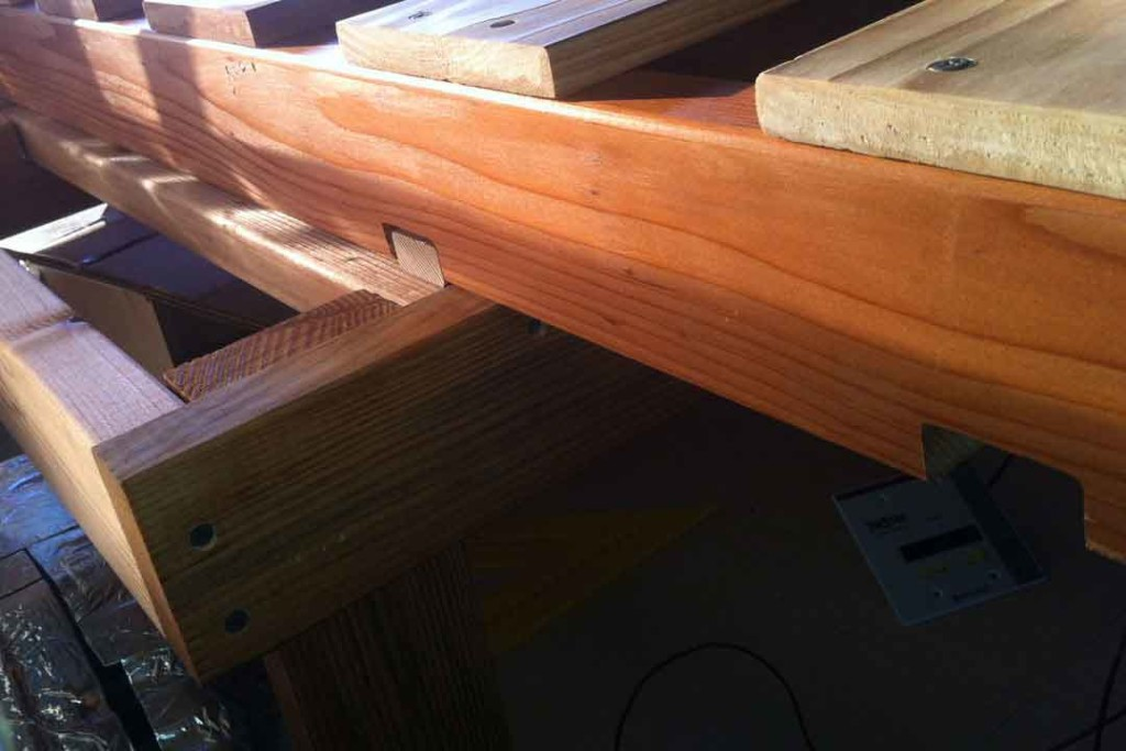 bed frame with notches