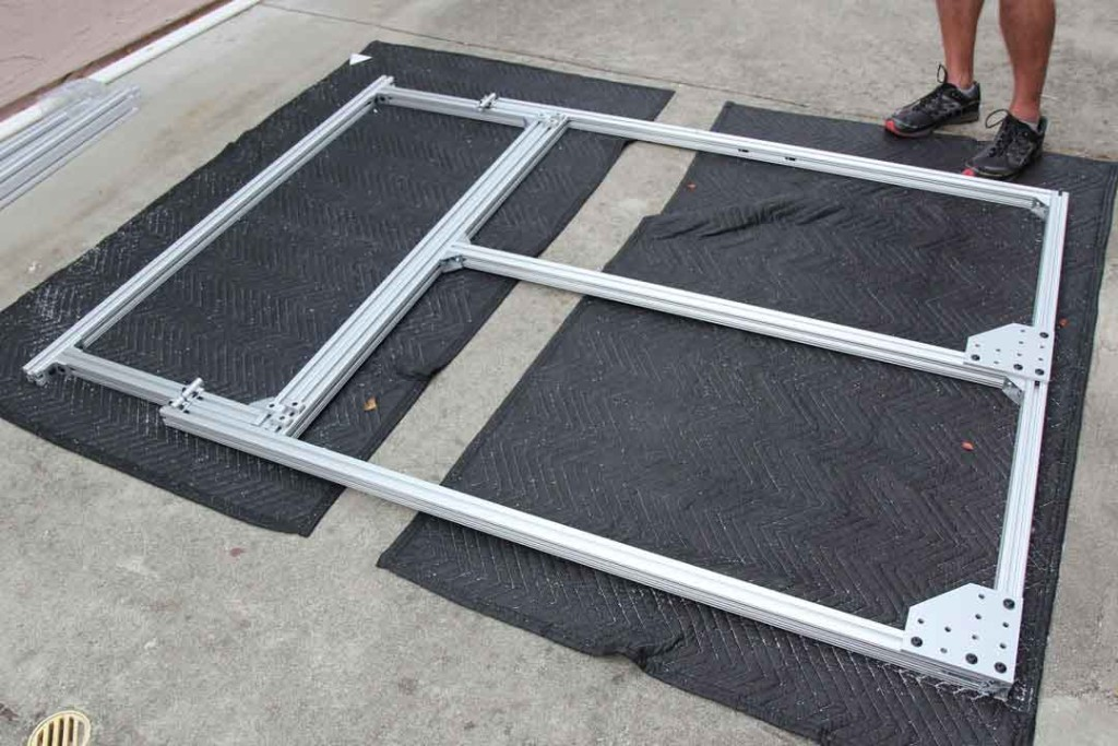 Extruded aluminum bed frame