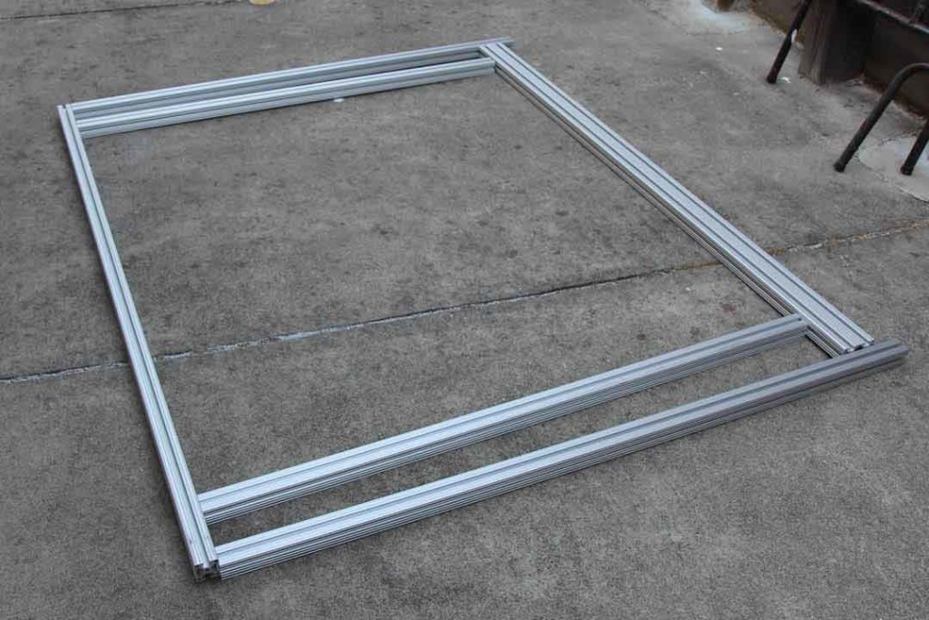 Extruded aluminum for bed frame