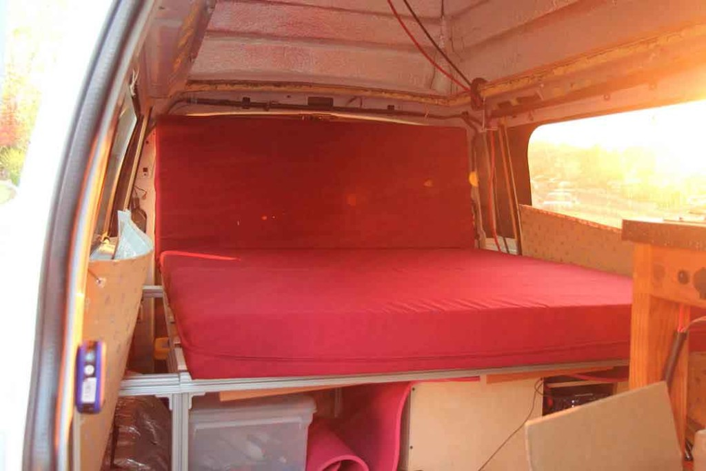 chaise inside van