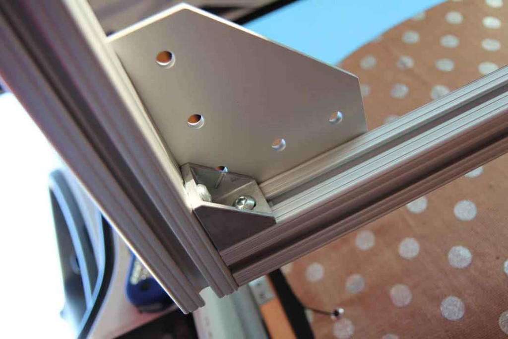 Underside of bed frame corner
