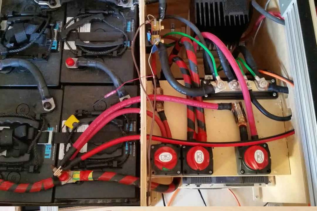 electrical wiring for camper van with solar panels