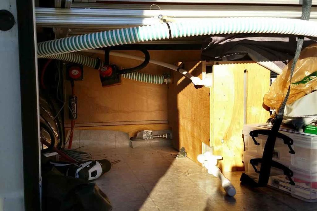 organized plumbing hoses
