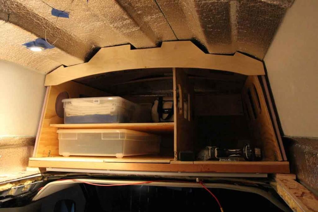 Van storage area