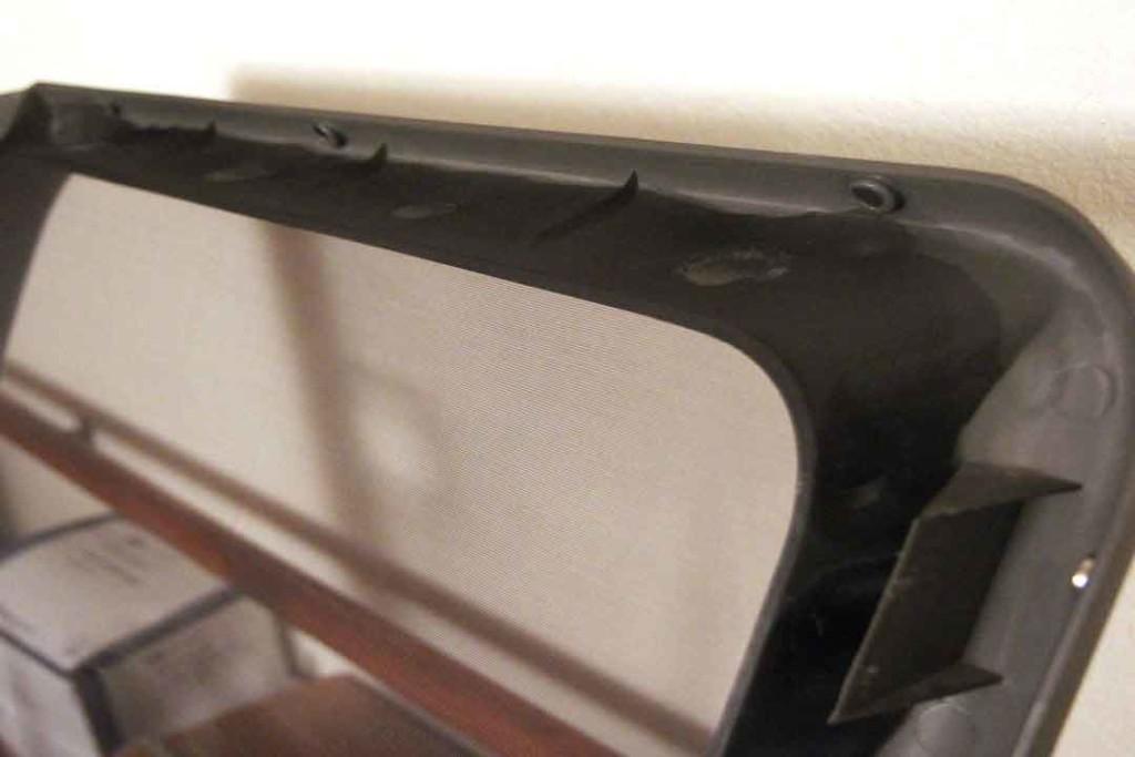 Custom screen for van window