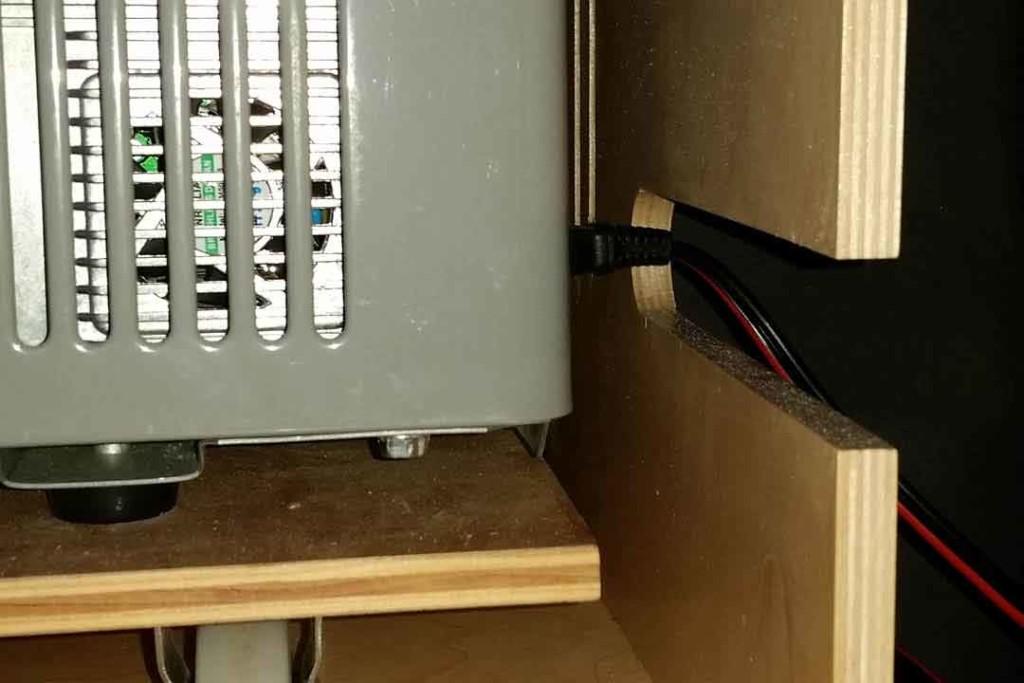 Custom cutout for power cord