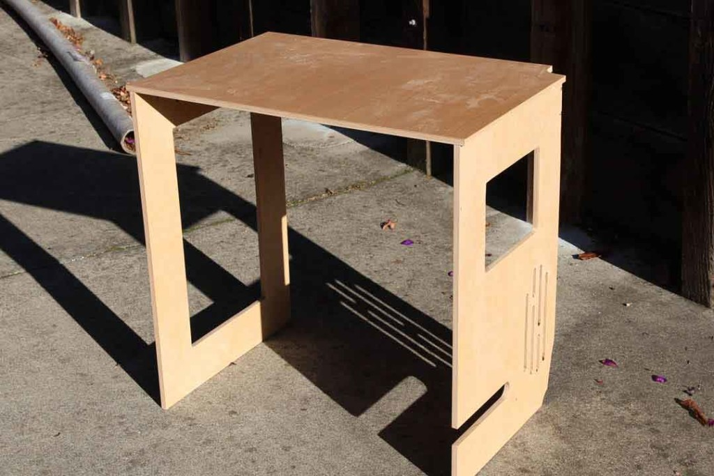 Plywood table for van