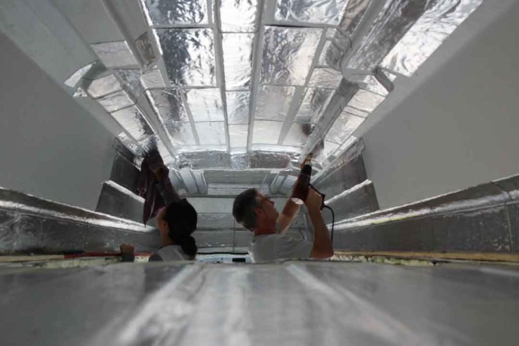 installing sound deadening inside camper van