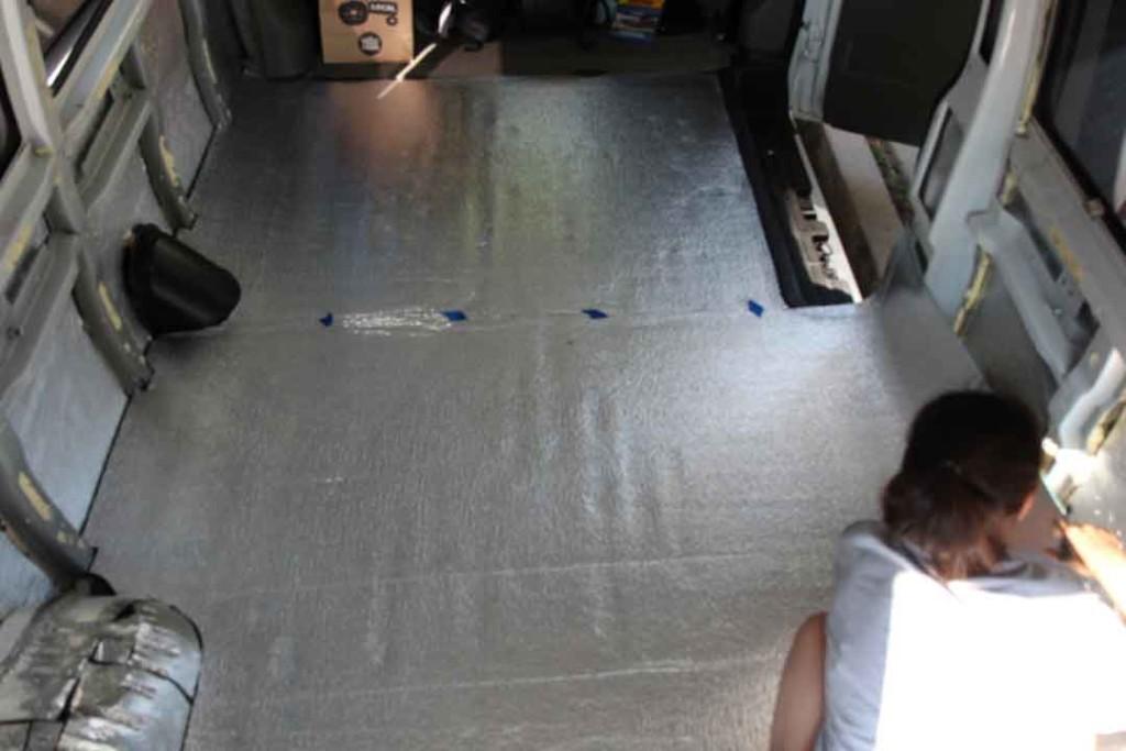 insulating van floor