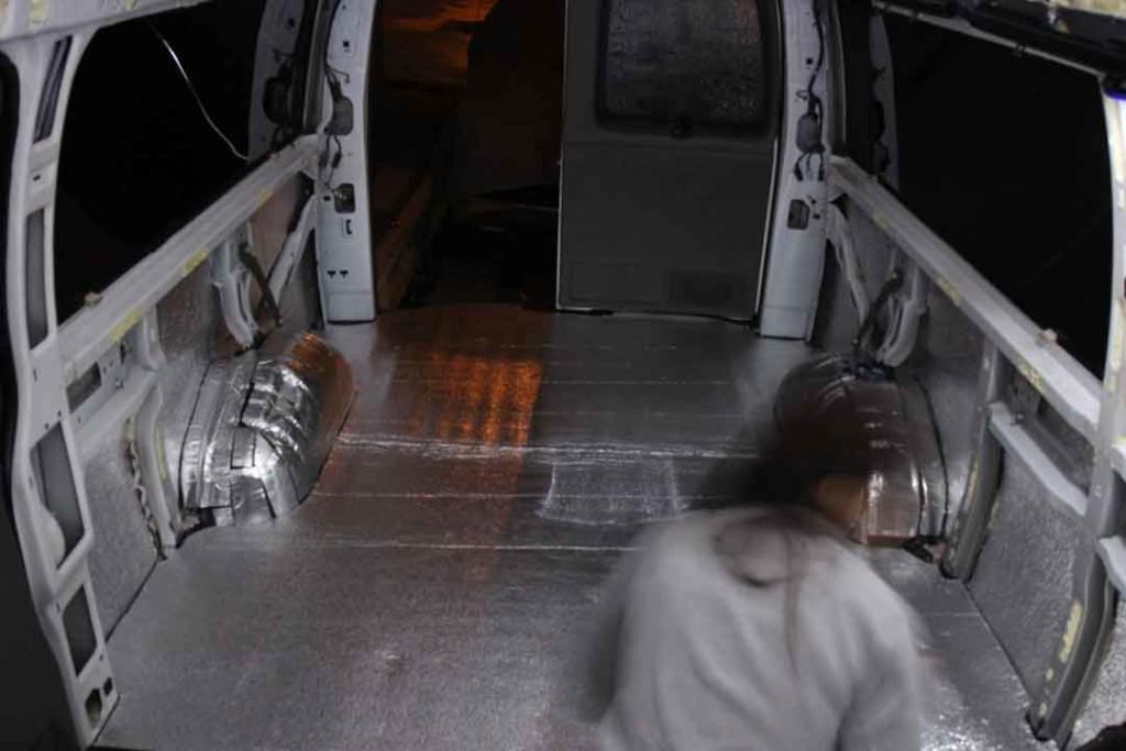 insulating the floor of the van