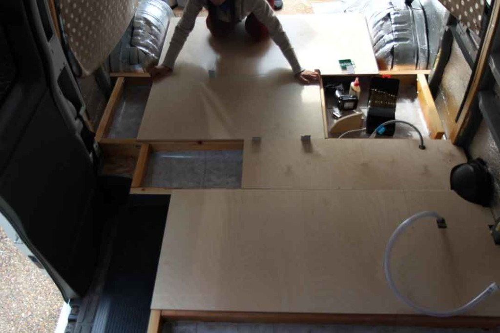 fitting panels for floor and floor storage