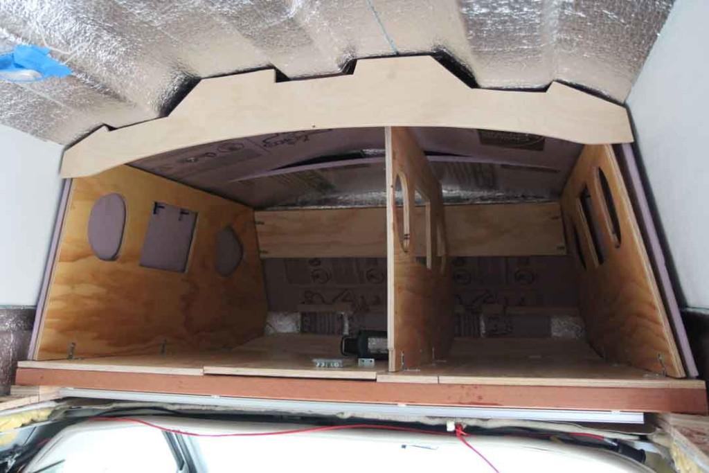 Camper van storage area