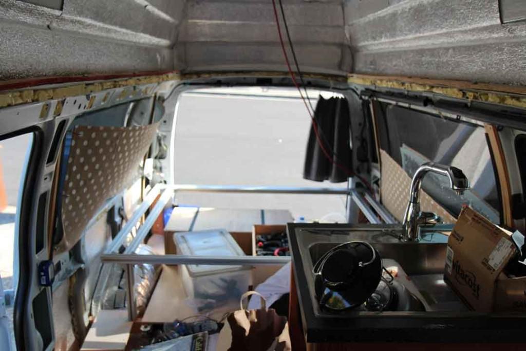 Installing the bed in the van